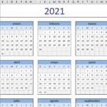 plantilla excel calendario 2021
